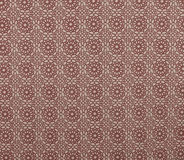 Mamounia Petite crimson Indoor fabric by Martyn Lawrence Bullard