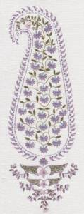 Patka Paisley lavender indoor fabric by Martyn Lawrence Bullard