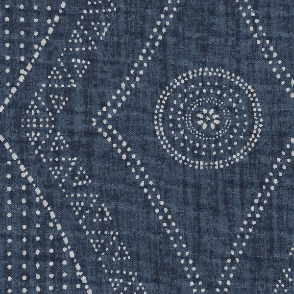 Nomad indigo Indoor fabric by Martyn Lawrence Bullard