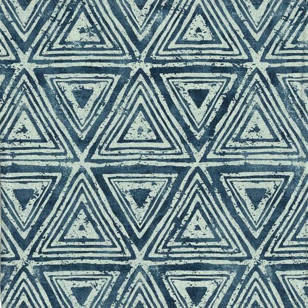 Zulu indigo blue outdoor fabric, designed by Martyn Lawrence Bullard