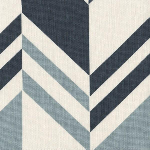 Raleigh Stripe Ocean blue indoor fabric by Martyn Lawrence Bullard