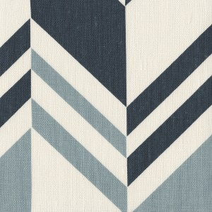 Raleigh Stripe Ocean blue indoor fabric by Martyn Lawrence Bullard