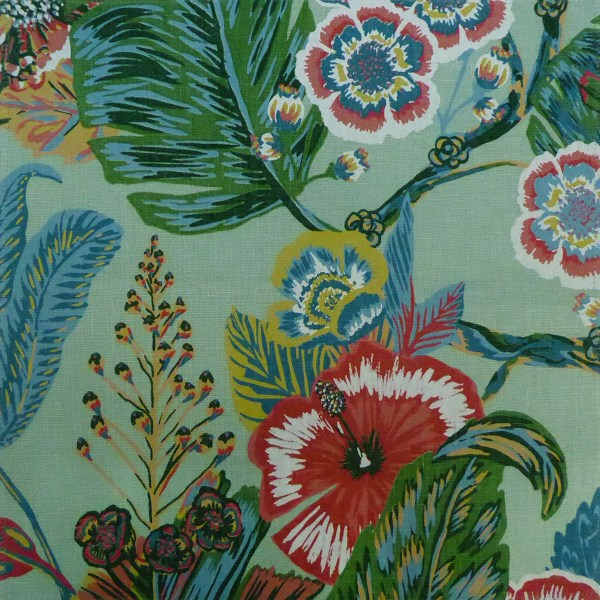 Tropicana Seafoam green indoor fabric by Martyn Lawrence Bullard
