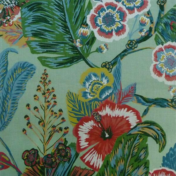 Tropicana Seafoam green indoor fabric by Martyn Lawrence Bullard