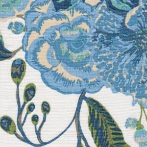 Bahia Bouquet blue indoor fabric by Martyn Lawrence Bullard