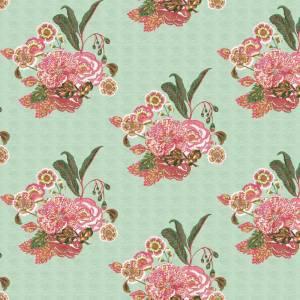 Bahia Bouquet seafoam indoor fabric by Martyn Lawrence Bullard