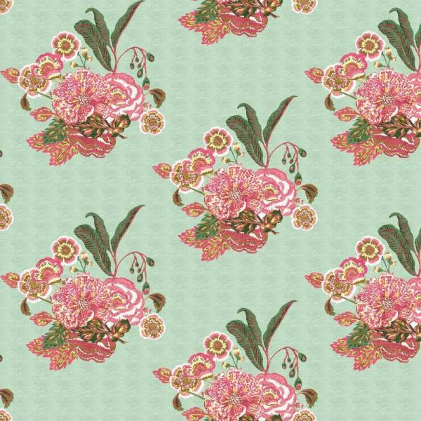 Bahia Bouquet seafoam indoor fabric by Martyn Lawrence Bullard