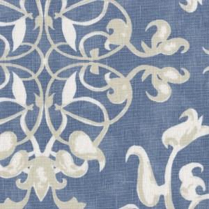 Ottoman Trellis sapphire indoor fabric by Martyn Lawrence Bullard