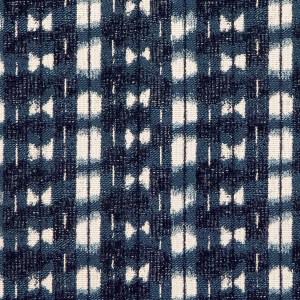 Shibori indigo Indoor/Outdoor Performance Woven fabric by Martyn Lawrence Bullard