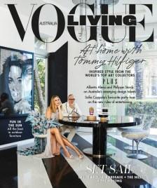 Vogue Living Australia cover of Tommy Hilfiger's house, designed by Martyn Lawrence Bullard