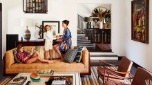 Alessandra Ambrosio shows Architectural Digest home by Martyn Lawrence Bullard