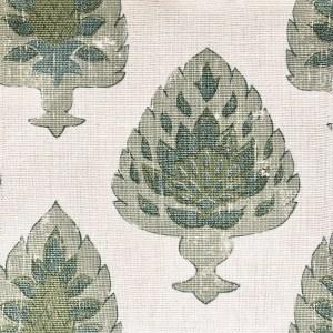 Asarem All Green 100% linen indoor fabric by Martyn Lawrence Bullard.