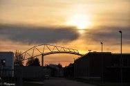 sunset on Vitra Campus