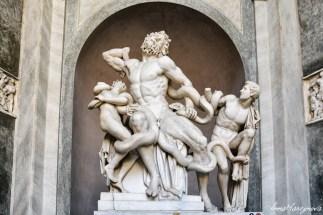 The only original statue in Vatican Museum