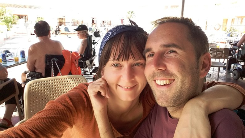 Martyn and Kasia in Tenerife