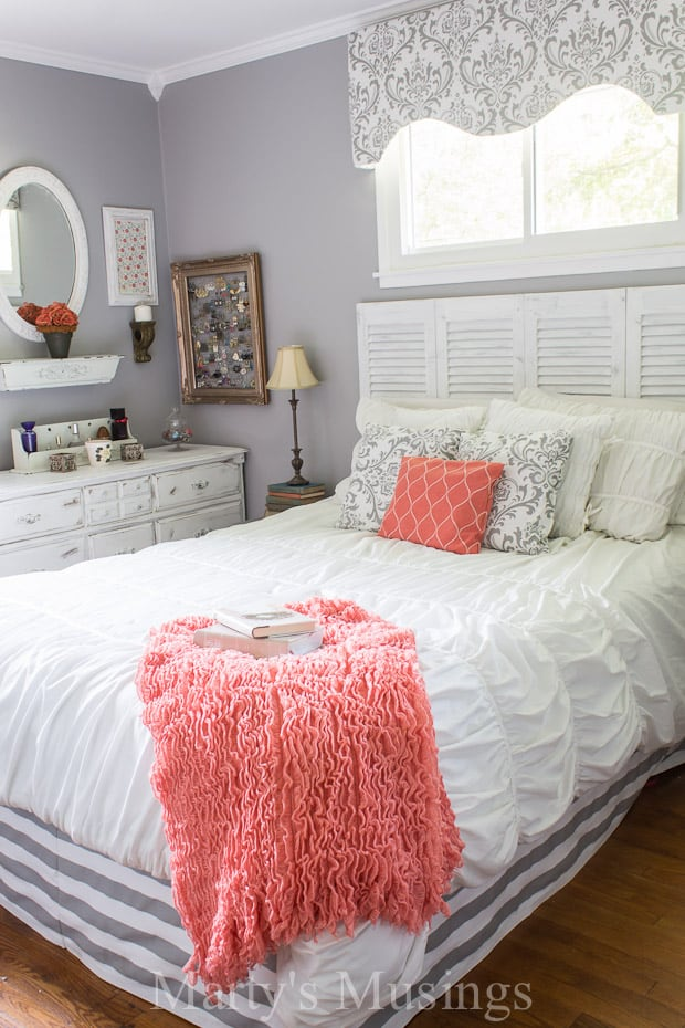 Gray-and-Coral-Bedroom-Makeover-Martys-Musings