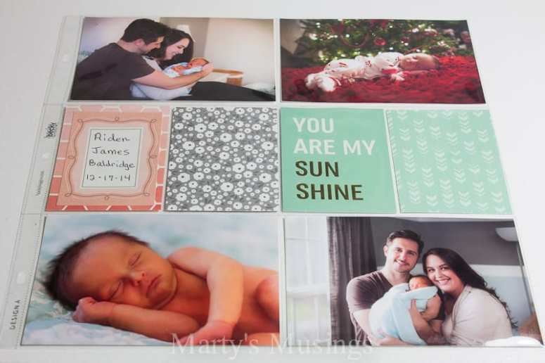 Using pocket pages and precut cards you can simplify your family memory keeping with these easy family scrapbook ideas using Jen Hadfield's Home+Made Kit.