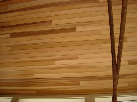 """Clear Rustic 4"""" T&G installed on interior ceiling"""