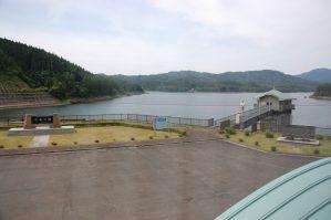 山王海ダム操作室から見た平安の湖