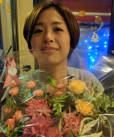 妻にお礼の花束@藤原商店