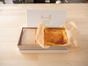 チーズケーキHOLIC 箱を開けるとこんな感じ