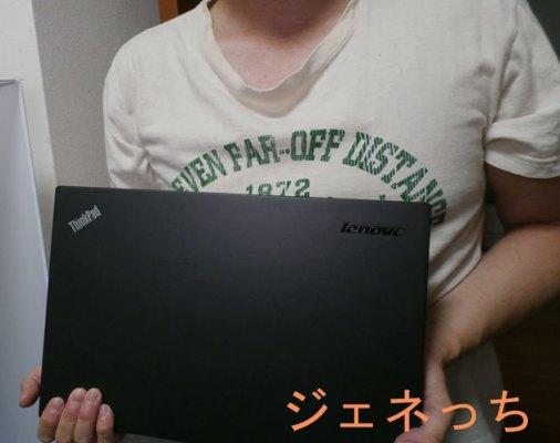 ThinkPadT440s正面手に