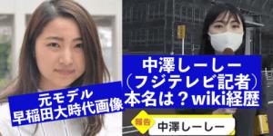 中澤しーしー(フジテレビ記者)の本名wiki!元モデルの早稲田時代画像