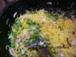 AFTER FEW MINUTES ADD CORIANDER LEAVES