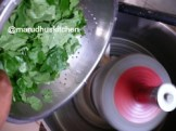 ADD LEAVES AFTER ADDING DHAL RICE MIXTURE,FINALLY ADD SALT AND MIX