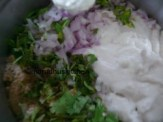ADD ONION MIXTURE TO BATTER