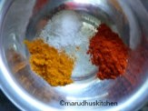 ADD SALT TURMERIC AND CHILLIPOWDER