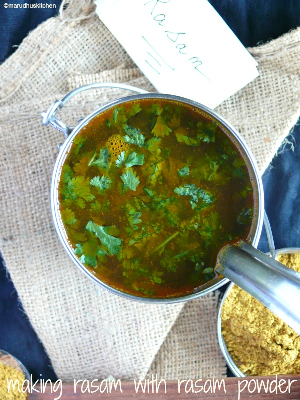 making rasam with rasam powder