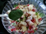 AT LAST ADD GREEN CHUTNEY MIX AND SERVE