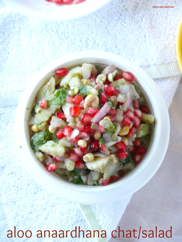 potato salad with pomegranates/aloo anaardhana chaat