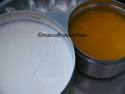 BUTTERMILK AND MANGO PUREE