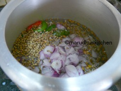 PRESSURE COOK SPROUTS WITH WATER,SALT AND OTHER SPICES