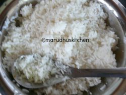 BOILED RICE MIXED WITH LITTLE OIL AND SALT