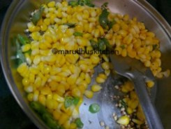 ADD CORN WITH SALT AND FRY FOR SOME TIME