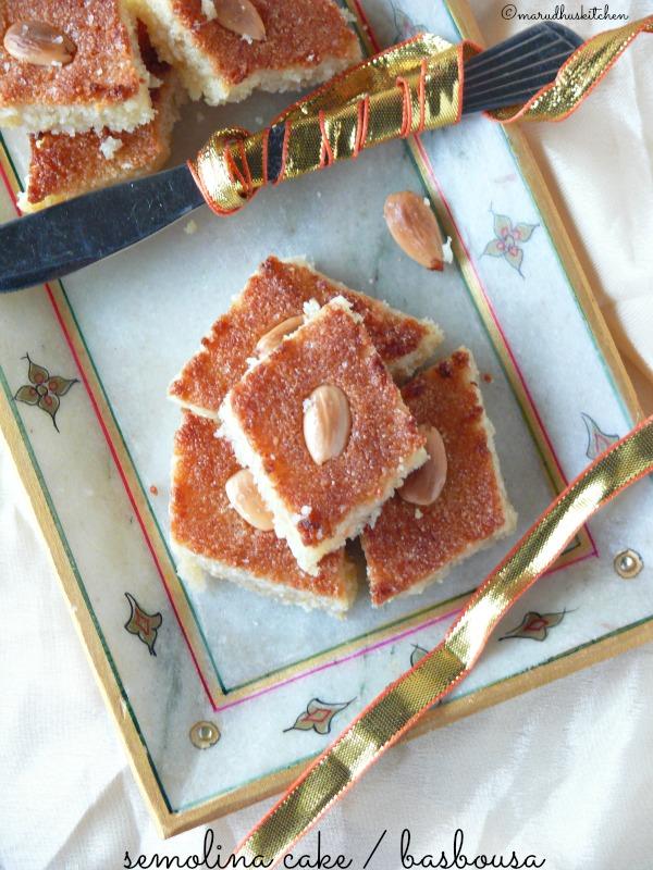 semolina cake / basbousa