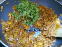 SWITCH OFF ADD CORIANDER LEAVES AND LET COOL