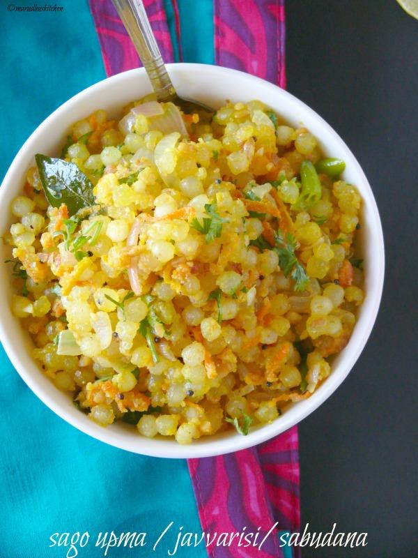sago upma indian recipe /javvarisi/sabudana khichdi