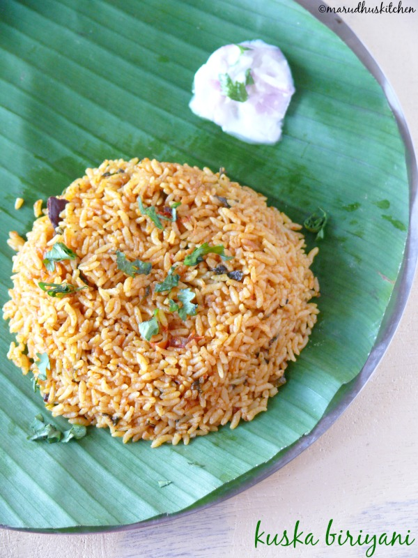 kuska biriyani /kuska rice without vegetables