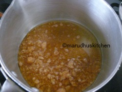 MELT JAGGERY WITH LITTLE WATER