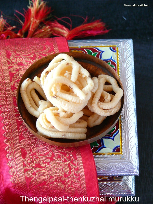 coconut milk murukku recipe /thengai paal thenkuzhal