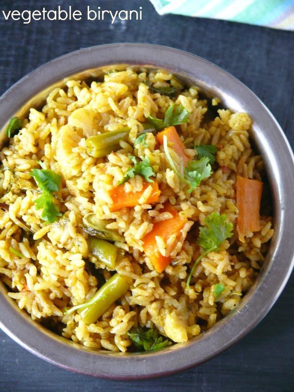 vegetable biryani pressure cooker method /veg biriyani recipe