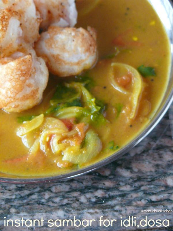 instant sambar recipe for idli dosa /instant tiffin sambar