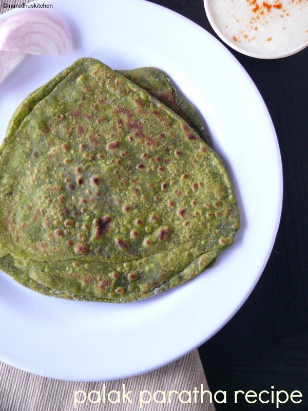 spinach chapati recipe /palak paratha /palak roti