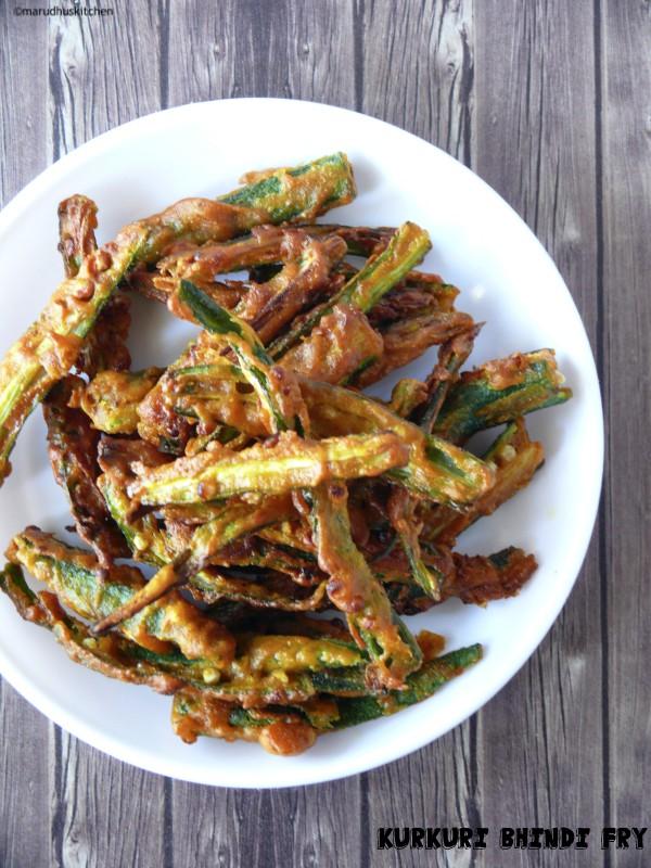 kurkuri bhindi fry recipe/crispy ladies finger fry