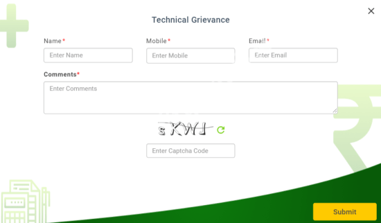 PMFBY Technical Grievance