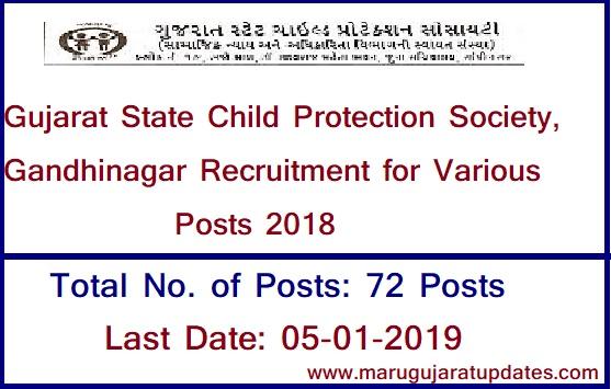 Gujarat State Child Protection Society, Gandhinagar Recruitment